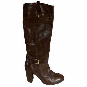 Audrey Brook Dark Brown Leather Heeled Boots